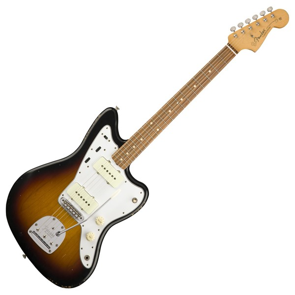 Fender Road Worn 60s Jazzmaster Electric Guitar, Pau Ferro, 3-Color Sunburst
