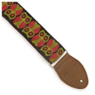 Souldier Guitar Strap Owls, Black and Red