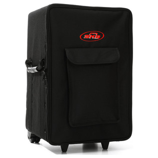 SKB Small Rolling Powered Speaker/Mixer Soft Case - Angled Front