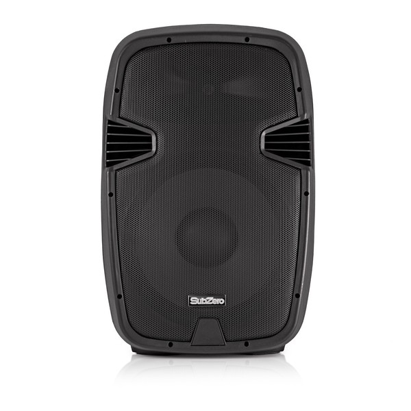 "SubZero 600W 15"" Speaker System with Digital Media Player and Stands"