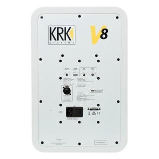 KRK V8S4 Studio Monitor White - Rear