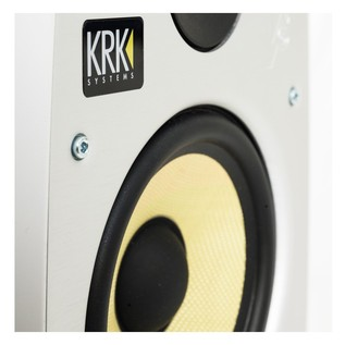 KRK V8S4 Studio Monitor, White (Pair) With Stands - Detail
