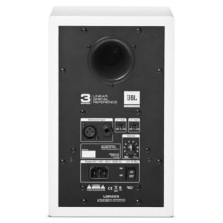 JBL LSR305 Studio Monitor, White - Rear