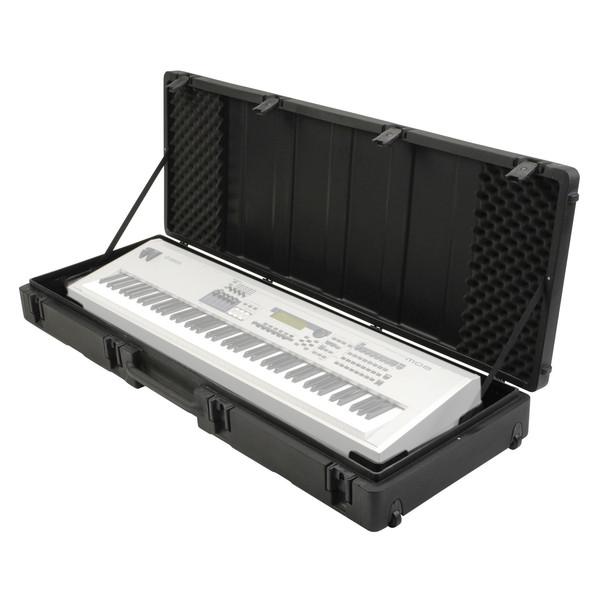 SKB Roto Molded 88 Note Keyboard Case - Open (Keyboard Not Included)