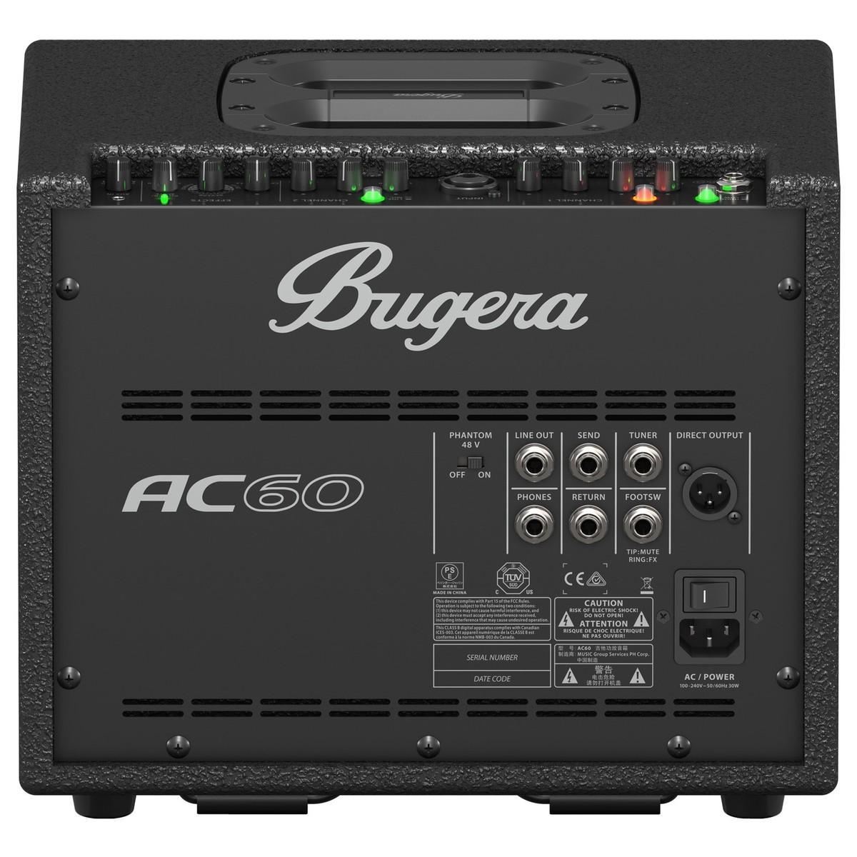 Bugera Ac60 Acoustic Guitar Combo Amp : bugera ac60 60w portable acoustic combo amp at gear4music ~ Vivirlamusica.com Haus und Dekorationen