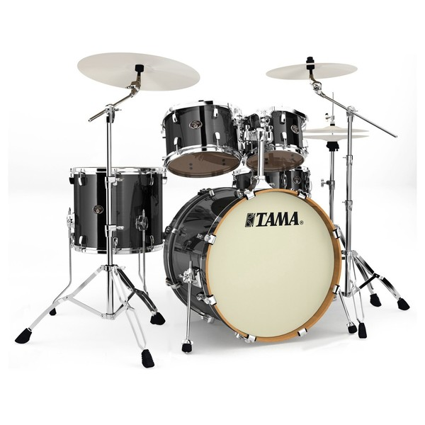 Tama Silverstar 22'' 5pc Drum Kit, Brushed Charcoal Black
