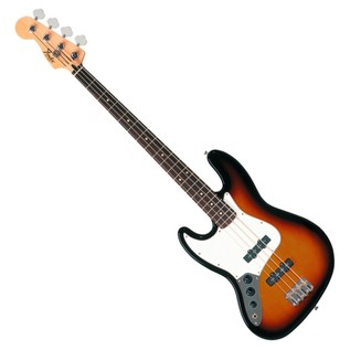Fender Standard Jazz Bass Left Handed Bass Guitar, Pau Ferro, Brown Sunburst