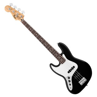 Fender Standard Jazz Bass Left Handed Bass Guitar, Pau Ferro, Black