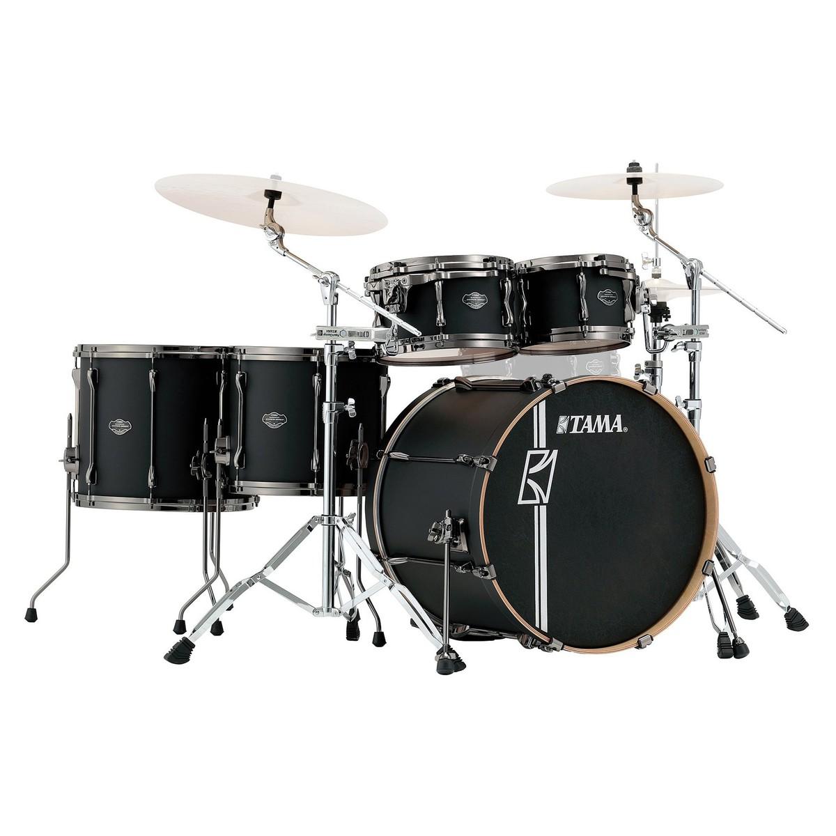 tama superstar hyper drive 22 39 39 5pc drum kit flat black at gear4music. Black Bedroom Furniture Sets. Home Design Ideas