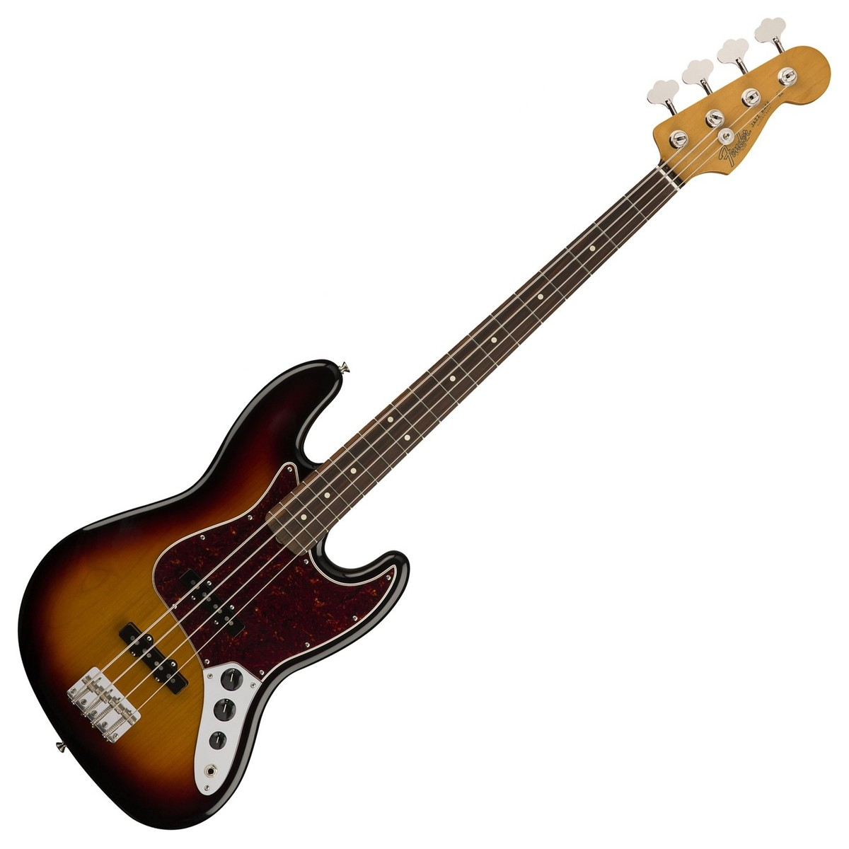 fender classic 60s jazz bass pw 3 tone sunburst at. Black Bedroom Furniture Sets. Home Design Ideas