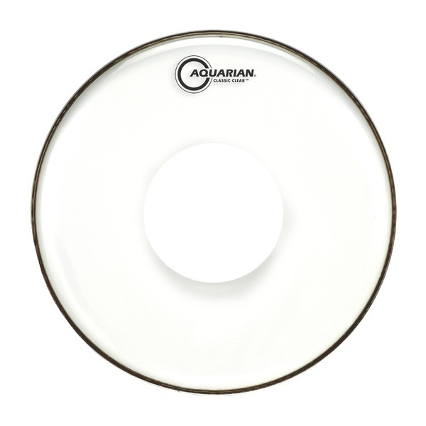 Aquarian Classic Clear White 12'' Drum Head with Power Dot