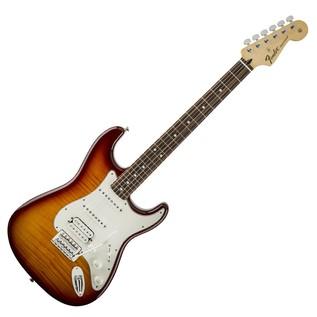 Fender Standard Stratocaster HSS Plus Top, Pau Ferro, Tobacco Sunburst