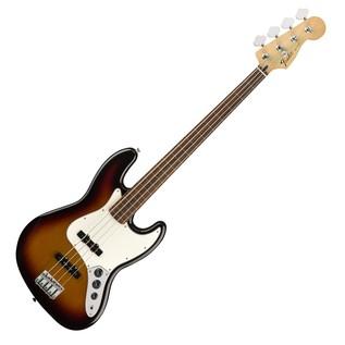 Fender Standard Jazz Bass FretLess Bass Guitar, Pau Ferro, Brown Sunburst