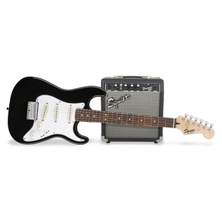 Fender Squier Strat Pack SS Short-Scale Electric Guitar Pack, Black 1