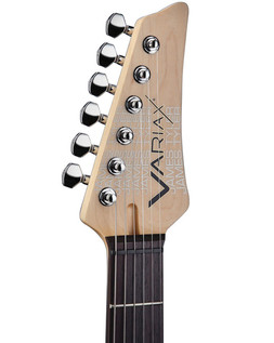 Line 6 JTV-69 James Tyler Variax Guitar In Lake Placid Blue - Headstock