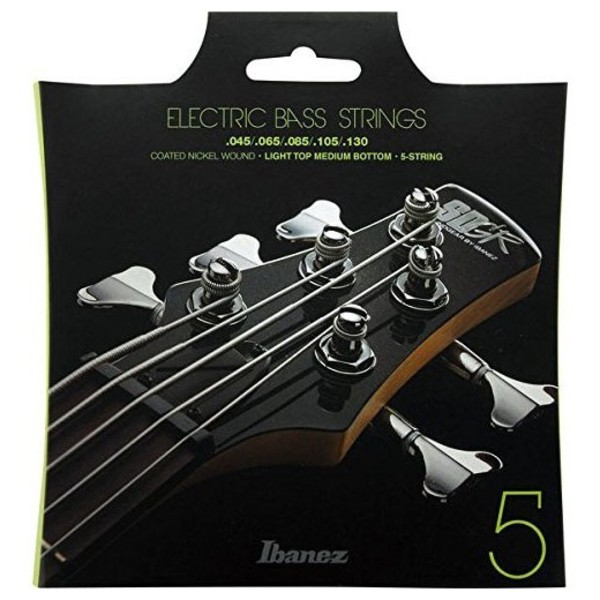 Ibanez IEBS5C 5 Bass Guitar Strings Package