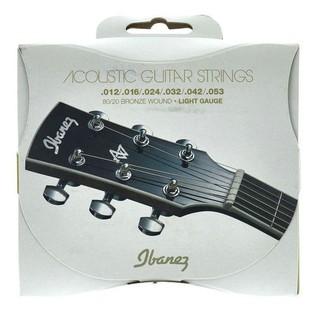 Ibanez IACS6C 6 Acoustic Guitar Strings, Light