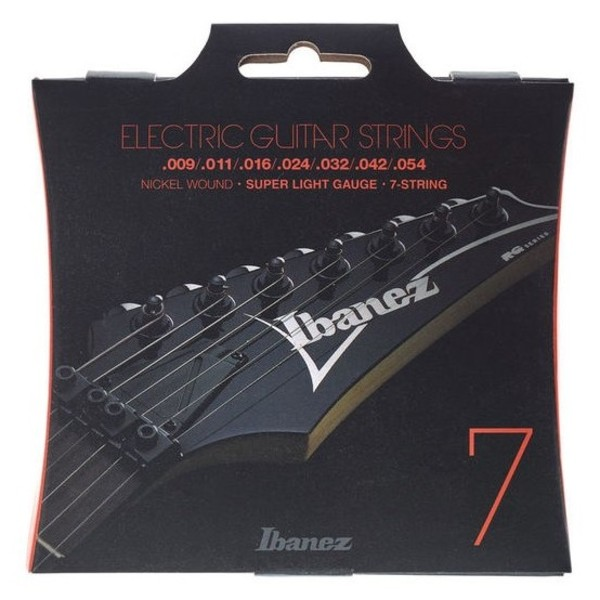Ibanez IEGS7 7 Electric Guitar Strings, Super Light