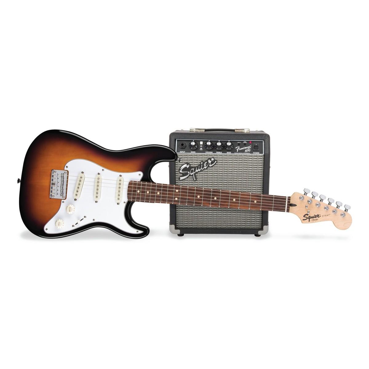 fender squier strat pack ss short scale electric guitar pack sunburst at. Black Bedroom Furniture Sets. Home Design Ideas