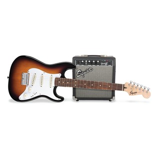 Fender Squier Strat Pack SS Short-Scale Electric Guitar Pack Sunburst Main
