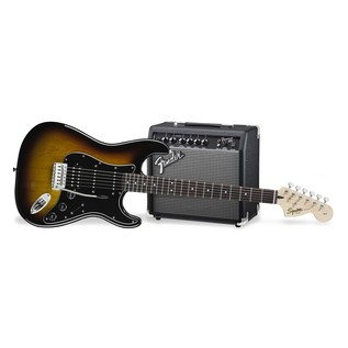Fender Squier Affinity Series Stratocaster HSS Pack, Brown Sunburst Main