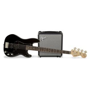 Fender Squier Affinity Series Precision Bass PJ Pack, Black 1