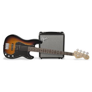 Fender Squier Affinity Series Precision Bass PJ Pack, Brown Sunburst 1