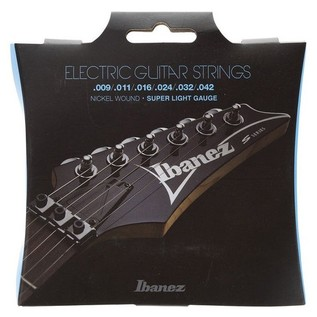 Ibanez IEGS6 6 Electric Guitar Strings, Super Light