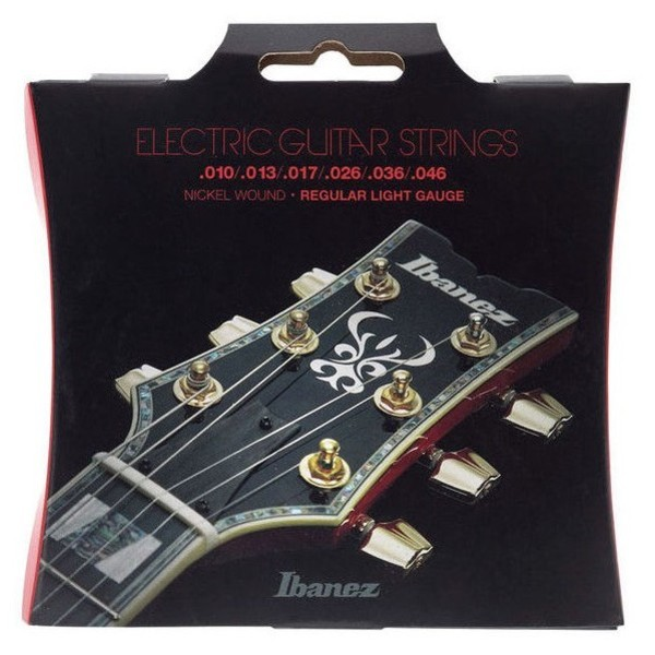 Ibanez IEGS61 6 Electric Guitar Strings, Regular Light