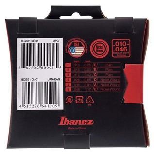 Ibanez IEGS61 6 Electric Guitar Strings, Regular Light