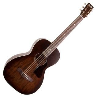 Art & Lutherie Roadhouse Parlour Acoustic Guitar, Bourbon Burst Front