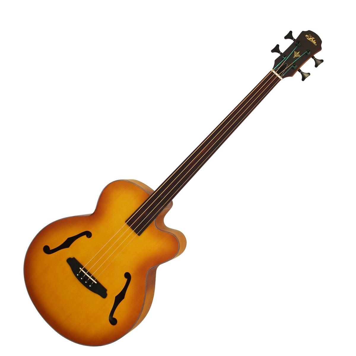 aria feb fretless electro acoustic bass guitar light vintage burst b stock at gear4music. Black Bedroom Furniture Sets. Home Design Ideas
