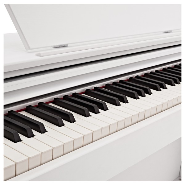 DP-10X Digital Piano by Gear4music + Piano Stool Pack, White