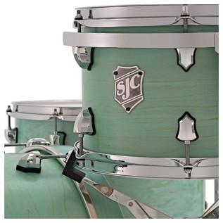 SJC Drums Tour 22'' 3 Piece Shell Pack, LTD ED Washed Mint