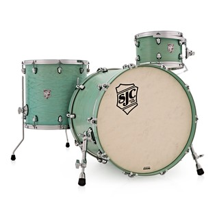 SJC Drums Tour 22'' 3 Piece Shell Pack, LTD ED Washed Mint with Chrome HW