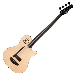 Godin A4 Ultra Fretless 4-String Semi-Acoustic Bass Guitar W/Bag Front