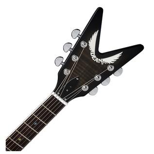 Dean ML 79 Electric Guitar, Trans Black 5