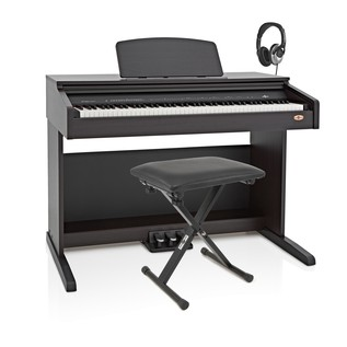 DP-10plus Digital Piano by Gear4music + Accessory Pack, RW