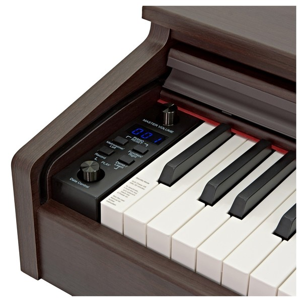 DP-10X Digital Piano by Gear4music + Piano Stool Pack, RW