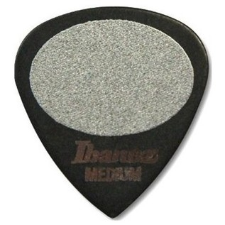 Ibanez PA16MS-BK Plectrums Sand Grip, 0.8mm, Black, Bag Of 50 - Front