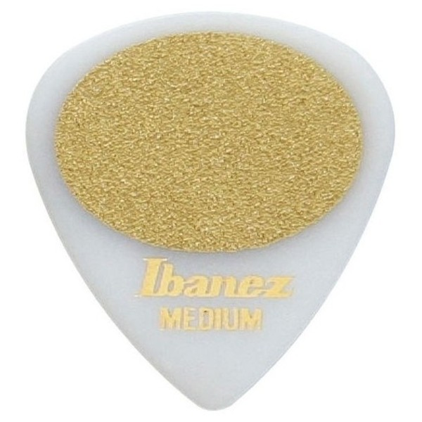 Ibanez PA16MS-WH Plectrums Sand Grip, 0.8mm, White, Bag Of 50 - Front