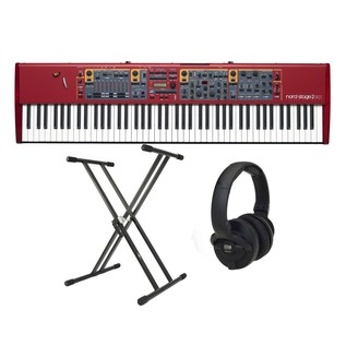 Nord Stage 2 EX 88 Stage Piano with Stand and KRK Headphones - Bundle