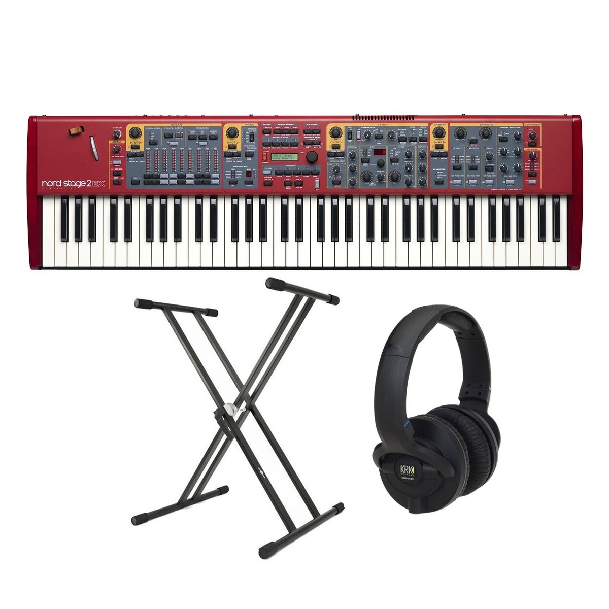 nord stage 2 ex compact 73 note keyboard with stand and headphones at gear4music. Black Bedroom Furniture Sets. Home Design Ideas