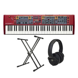 Nord Stage 2 EX Compact 73 Note Keyboard with Stand and Headphones - Bundle