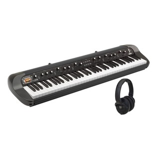 Korg SV-1 73 Note Black Stage Vintage Piano with Free KRK Headphones - Bundle