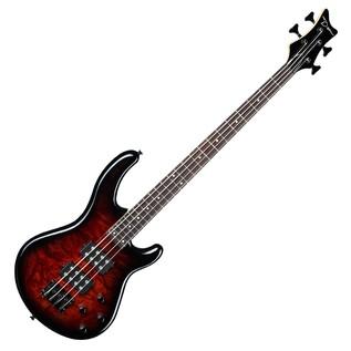 Dean Edge 2 Burled Maple Bass Guitar, Tobacco Burst 1
