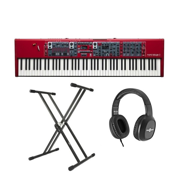 Nord Stage 3 88 Digital Piano With Stand & Headphones - Bundle