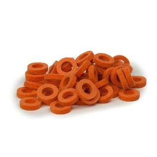 Bulldog Natural Felt Rings, Pastel Orange