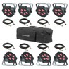 ADJ Mega TRIPAR Profile Plus 8 Pack with Bag and Cables