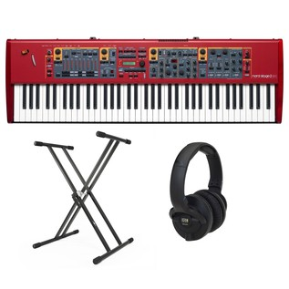 Nord Stage 2 EX HP76 Stage Piano with Stand and Headphones - Bundle